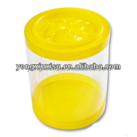 Candy Or Toy Transparent Plastic Cylindrical Packaging