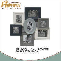 multi open wall metal photo frame , decoration mirror clip