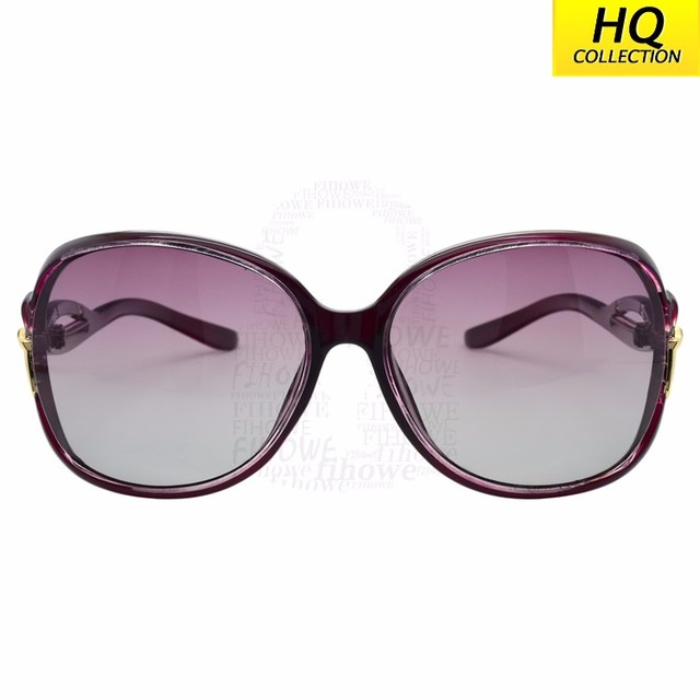 Big Frame Violet Woman Gradient Lens With Butterfly Knot Sunglasses