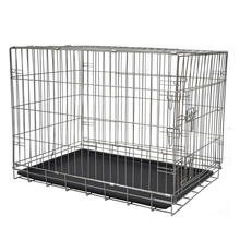 Double Doors Custom Large Iron Dog Cage Crate With Removable Tray MHD005