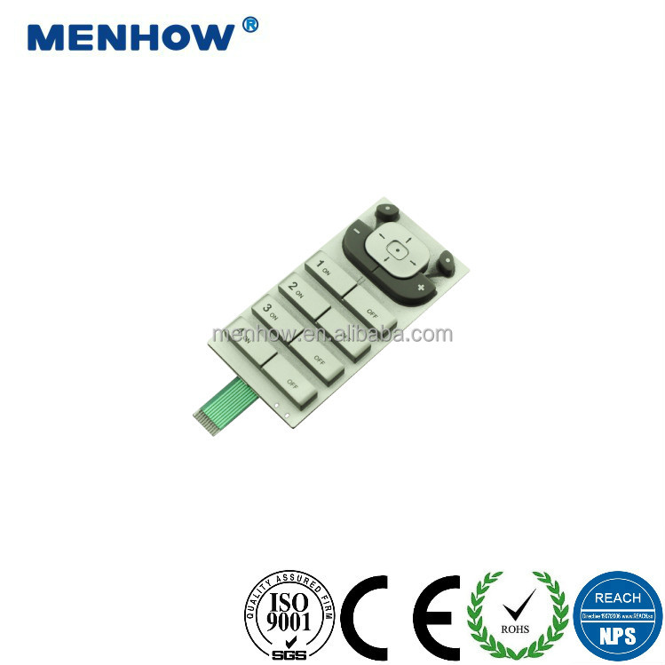 2017 custom made electronic remote controller silicone keypad carbon pills