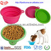 Collapsible Pet Travel Water Bowl Silicone Material With FDA&LFGB Approval