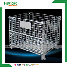stackable steel metal wire mesh pallet cage