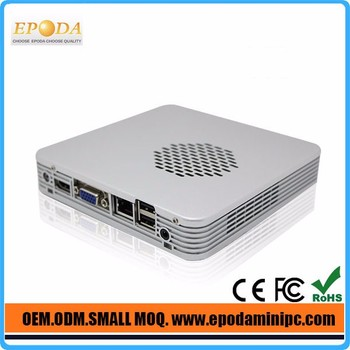 Small Cheap Fanless Mini Pc For Intel NM70 Express High Speed Chipset 1037UL Dual Lan Inbuilt WiFi with dual antenna(optional)