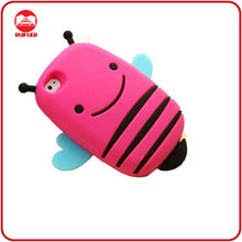 2013 Soft 3D Smile Bumble Bee New Silicone Case for iphone4/4s