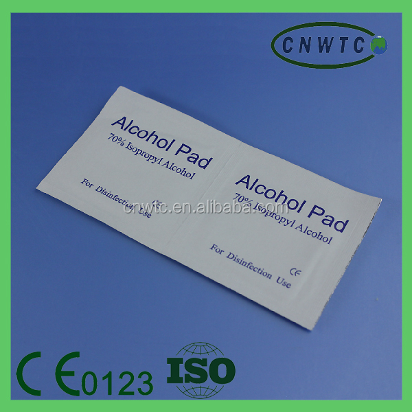 disposable 70% isopropyl alcohol pad