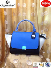 2015 new fashion design geniune leather tote women handbag from oem manufacturer