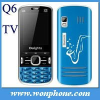 China 2 Sim Card TV Phone Q6 + Cheapest