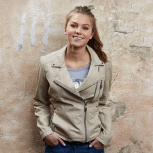 high quality cheap lady's fashion leather jackets apparel liquidation stock