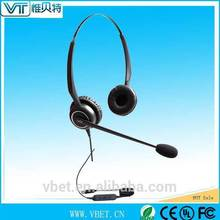 dual-microphone noise canceling functionality Wired Headphone with Mic with transparent voice tube