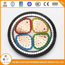 0.6/1kv 4 core PVC insulated iec cable color code cable