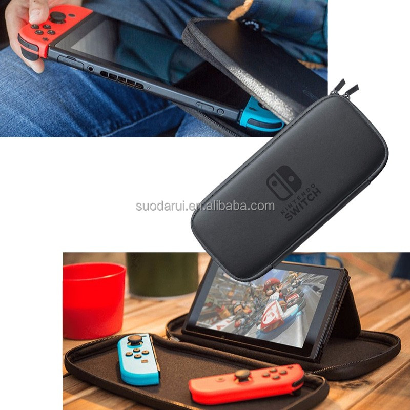 Factory Custom Hard Eva Case For Nintendo Switch Game Traveler Deluxe Travel Cover Bag For Nintendo Switch with SD Card Slot