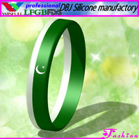 Friendship Pakistan National Flag Silicone Bracelet/Wristband