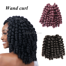 Cheapest 8inch ombre havana mambo twist jamaican bounce crochet jumpy wand curl twist with drop shipping