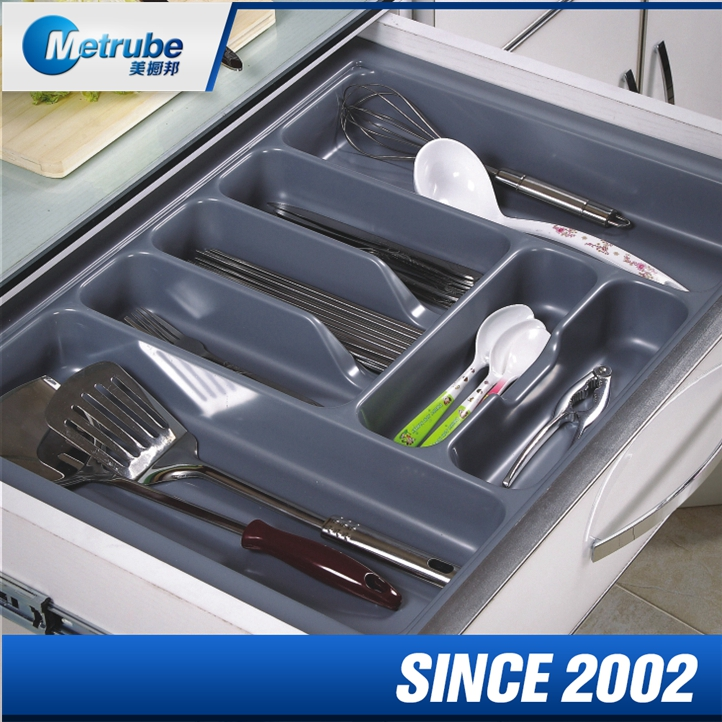 Classic Design Kitchen Divided Storage Drawer Reusable Plastic Cutlery