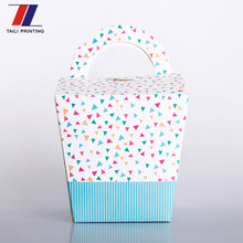 foldable birthday cake box, folding birthday cake paper box with drum