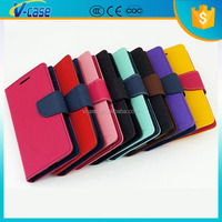 Dual Colors VCASE PU Leather flip mobile phone cover case for samsung galaxy mega 5.8