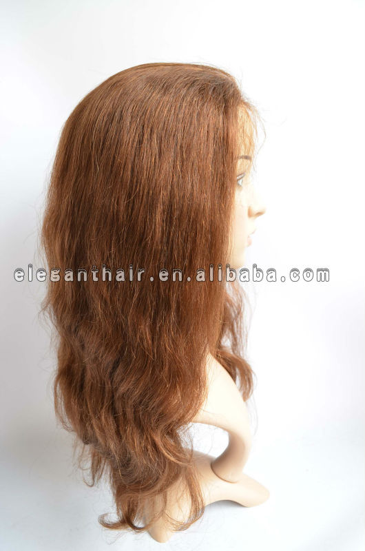 Elegant wig #4 brown body wave no shedding no tangle hand tied wig human hair wigs