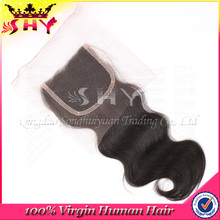 Hot Selling 6A Grade Virgin Brazilian Human Hair Free Parting Lace Closure