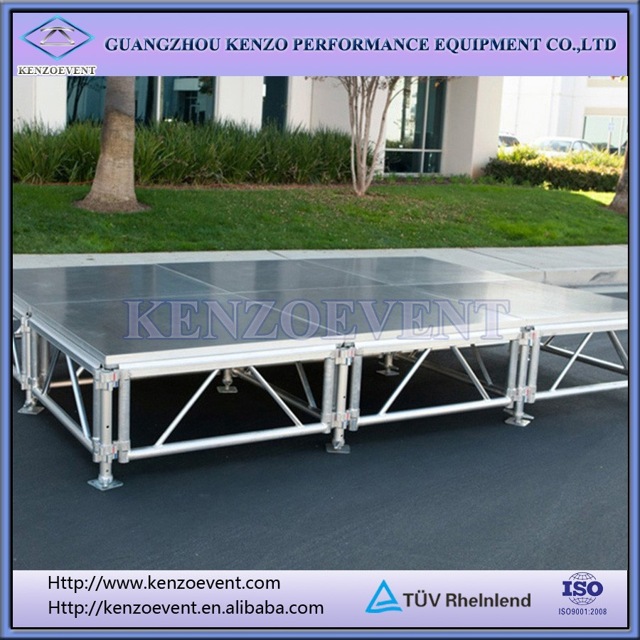 aluminum folding portable stage with heavy duty