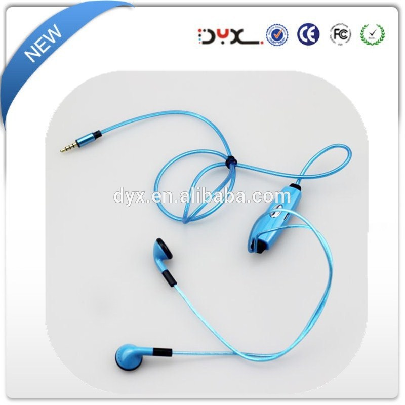 Fashion Design LED Light Glowing Sport earphone glow in the dark earbuds