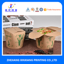 Biodegradable Round Bottom Noodle Take Out Boxes Paper Pasta Box