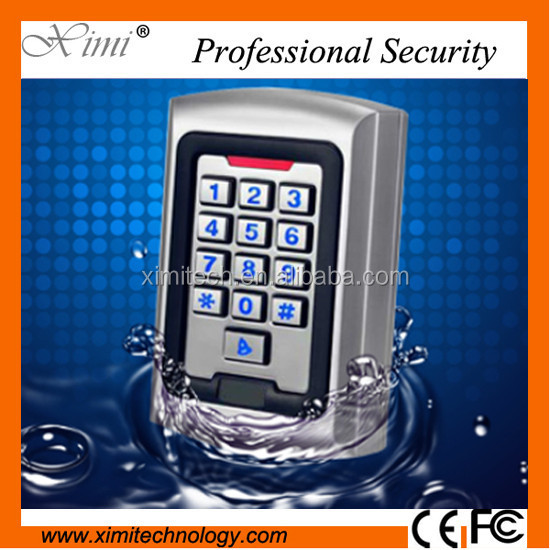 Access control card reader access control systems IP65 waterproof metal door access control with night version keypad