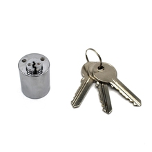 High quality privacy protection brass 30mm euro round cylinder lock with chrome plated