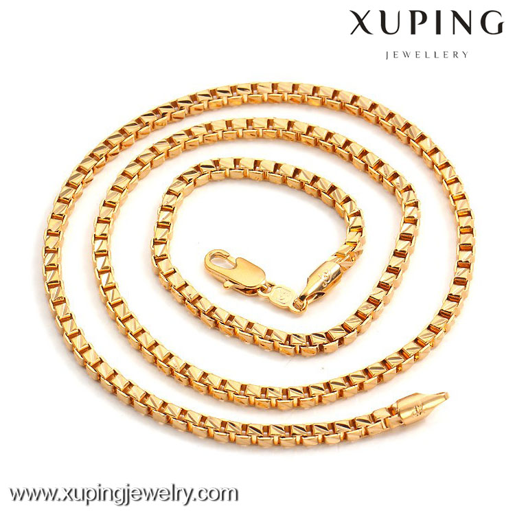 40706 Xuping Wholesale Charms Men Fashion Gold Chain Necklace Jewelry