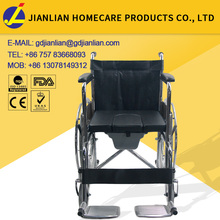 JL609U commode wheelchair with 8 inch wheels