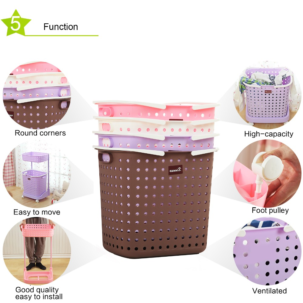 More cheaper folding plastic laundry basket fold up laundry basket
