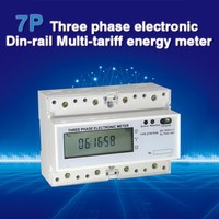 DTS5558 DIN-RAIL three phase remote controls pulse counter modbus energy meter