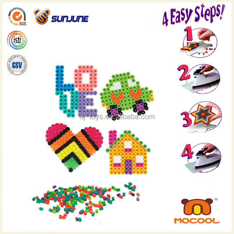 Creative educational toys, rainbow perler beads hama beads