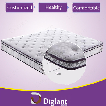 Diglant Sleep 9 Inch Blue I Gel Infused & Ventilation Memory Foam Mattress