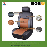 New Design PU Leather Auto Car Seat Cover Synthetic Set Front 6Pcs Seat Covers Car Covers Protecter