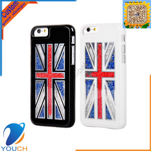 Promotion gift star style luxury moveable colorful bead england flag design mobile cover for iPhone 6 6s 6 plus 6s plus