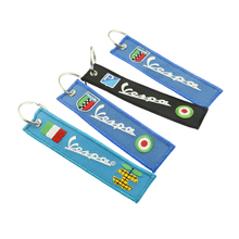 embroidery customized double sided fabric Flight key chains for airbus pilot