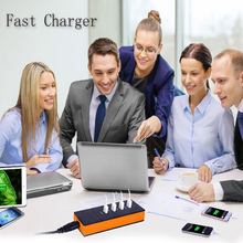 HUB multi charger multi port USB universal charger, USB data line four household intelligent charger