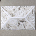 White Peacock Feather Wholesale 2016 New Design Laser Cut Wedding Invitation Card