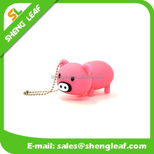 customized lovely pig PVC rubber usb flash drive