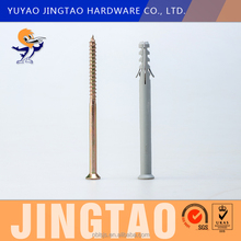 Oem Factory Cheap Price Pe Nylon Plastic Frame Wall Expansion Anchor Screw Plug With Wings