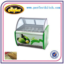 1200mm 1500mm 1800mm Hard Ice Cream Display Showcase with freezer