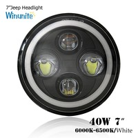 conversion kit 7 inch round led headlight universal 7inch headlight for Jeep wrangler projector 75w drl healdight