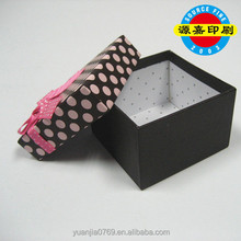 Korea style small and pure and fresh flower ribbon gift box