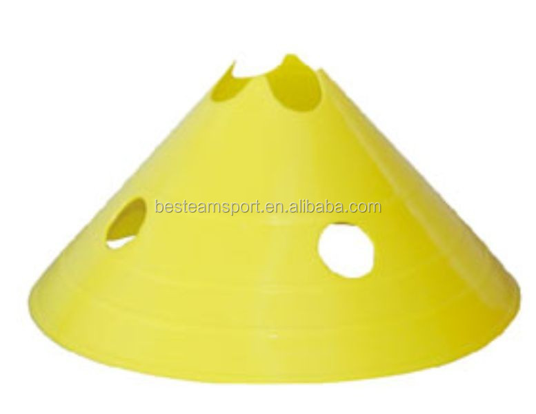 PE soccer training SSE-19 disc cone with hole / disc marker cone for soccer