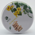 Full color food grade wholesale tin box round gift box