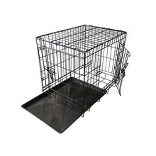 Hot selling folding metal dog enclosure pet crate commercial dog cage