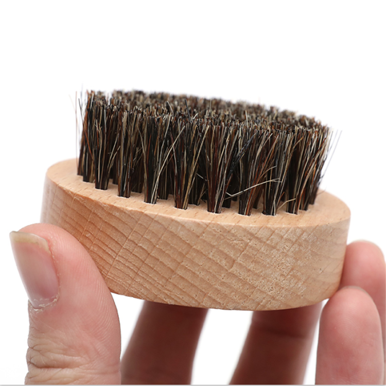 FQ brand hot sale 100% nature boar bristle beech wood round beard brush