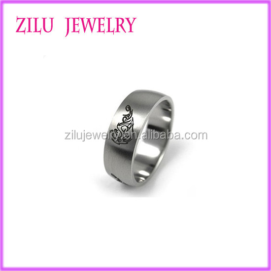 Cheap Wholesale 316l Men Stainless Steel Adjustable Rings Factory Price