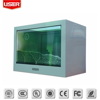 LCD transparent advertising display showcase for one year warranty